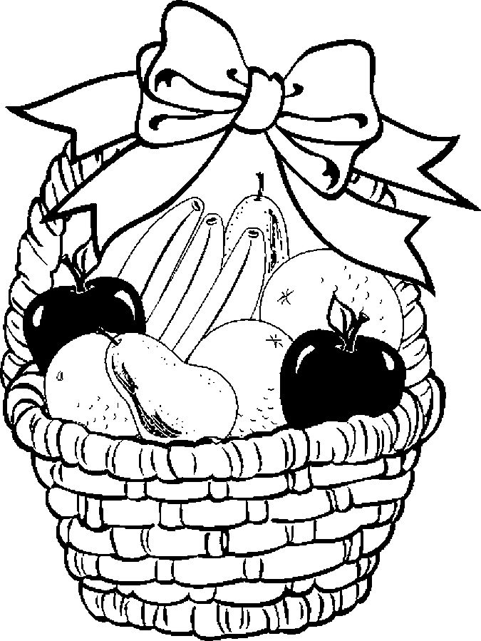 675x899 Fruit Basket Pictures For Drawing