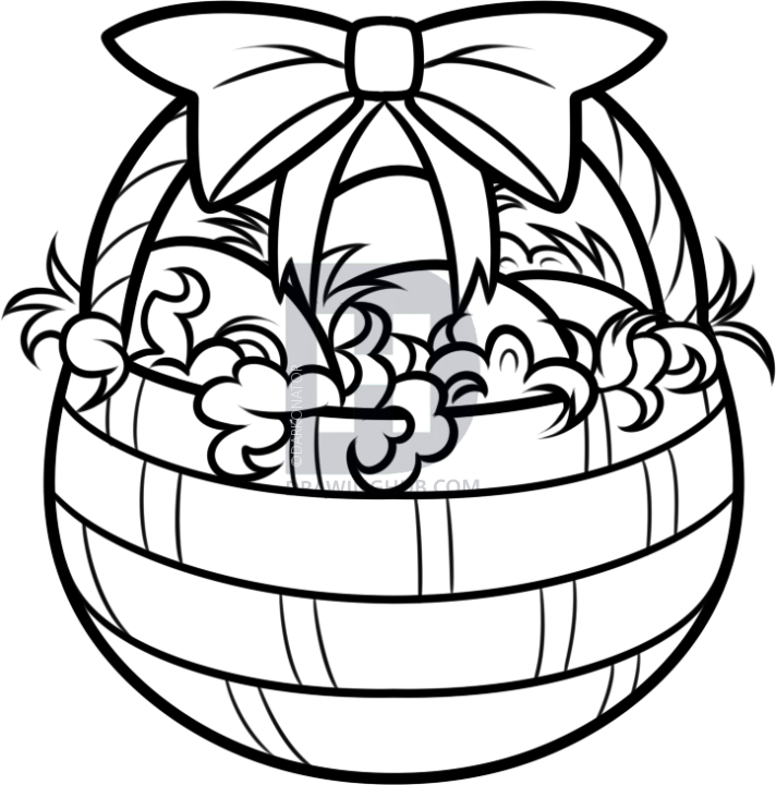 712x720 How To Draw An Easter Basket, Step