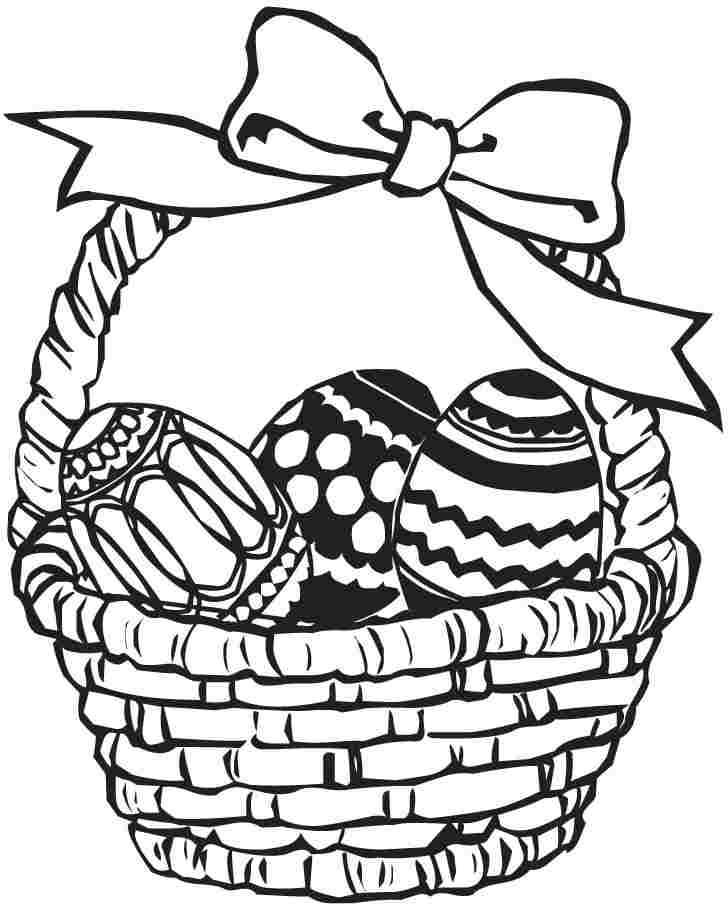 728x908 Huge Collection Of 'easter Egg Basket Drawing' Download More Than