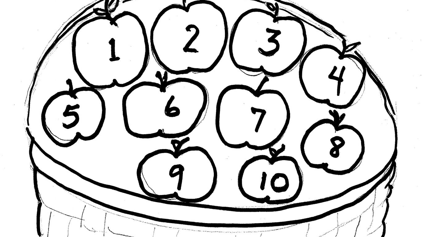 1366x768 Stunning Apple Basket Drawing Clipart Royalty Free Download Black