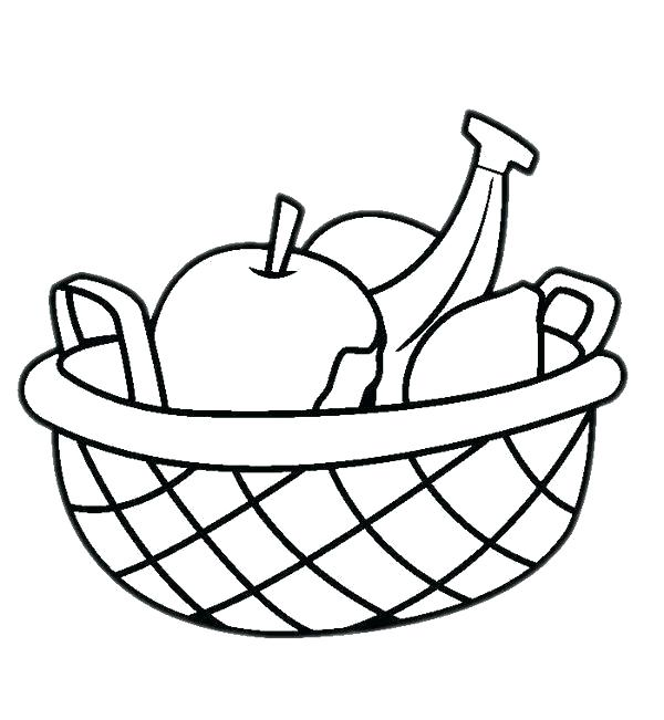 600x651 Fruit Basket Drawing Images Running