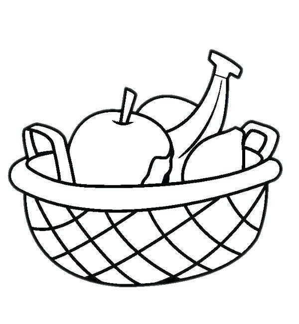 600x651 Fruit Basket Drawing Images Running
