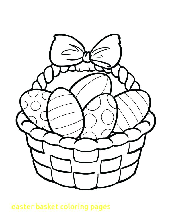 600x776 Easter Bunny Basket Coloring