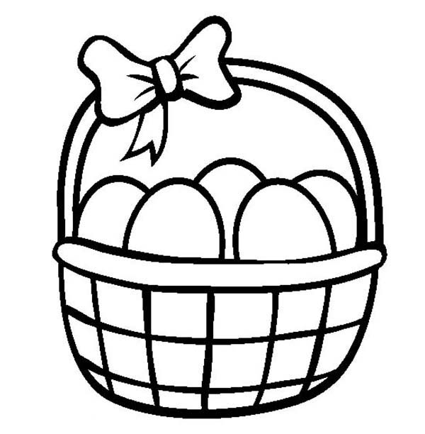 600x612 Easter Egg Basket Drawings Happy Easter Thanksgiving