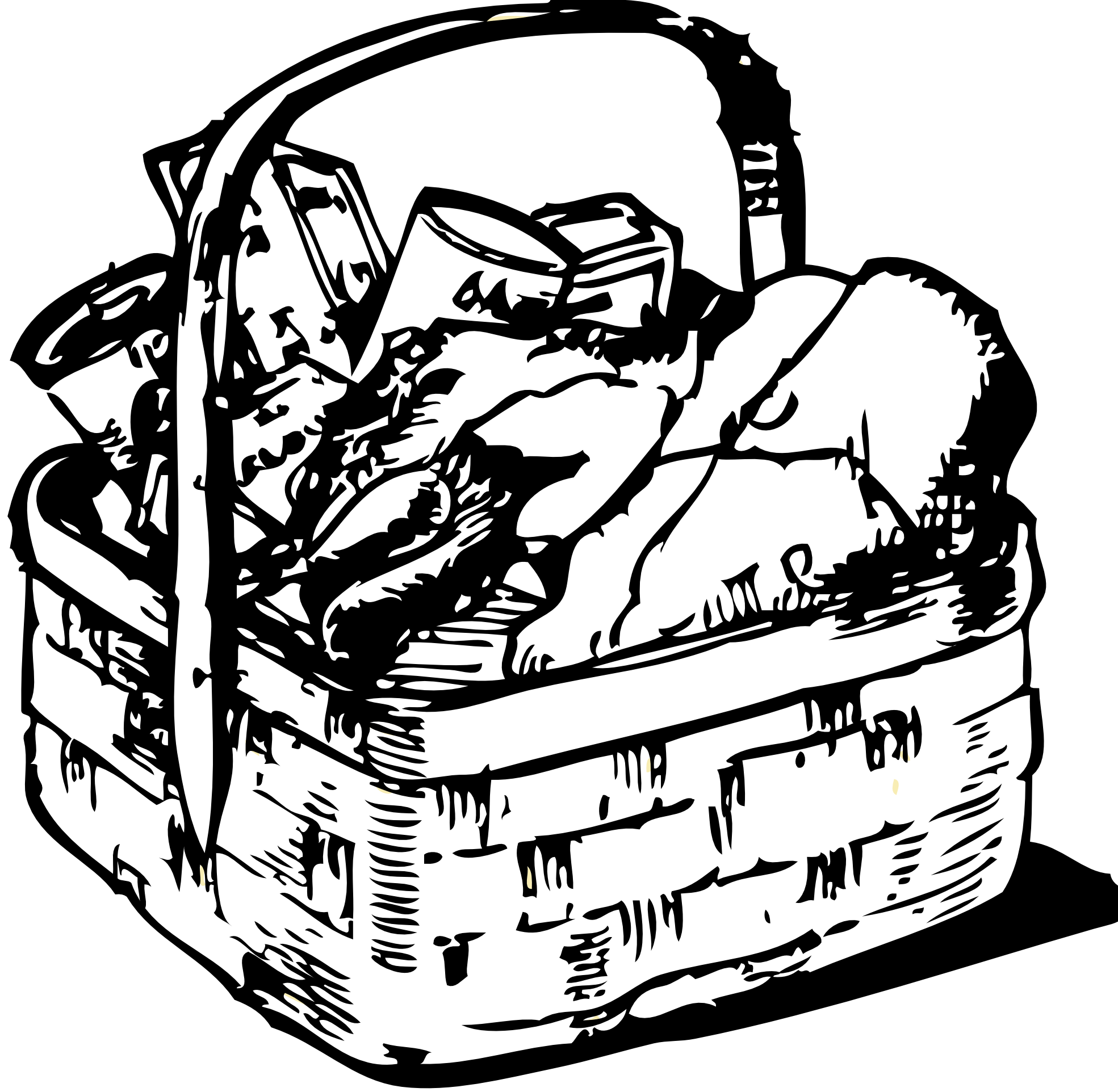 1969x1924 Wash Drawing Laundry Basket For Free Download