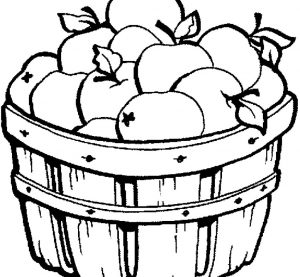 300x277 Food Basket Drawing At Getdrawings Com Free For Personal Use Apple