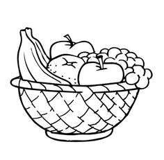 236x231 Fruit Basket Pictures To Colour Free Coloring Pages On Art