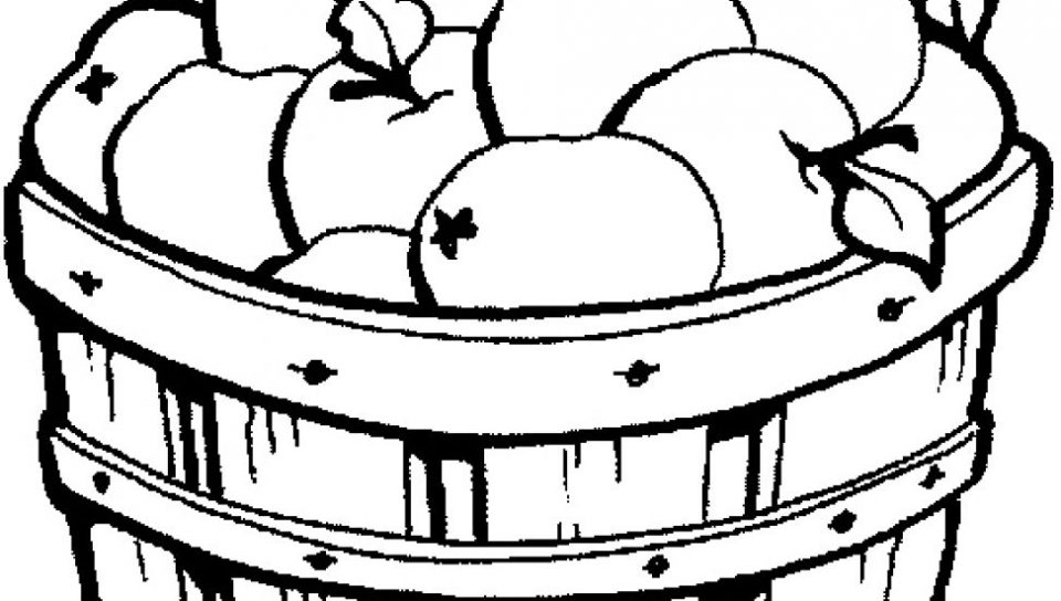 960x544 Apple Basket Coloring