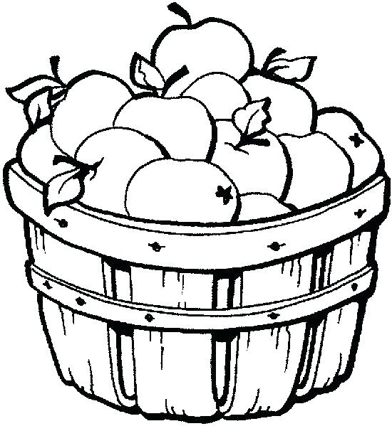 550x599 Apple Basket Panda Free Images Coloring Pages Fall Clip Art