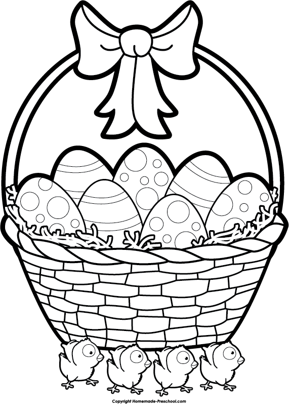 571x797 Collection Of Free Basket Drawing Easter Bunny Download On Ui Ex