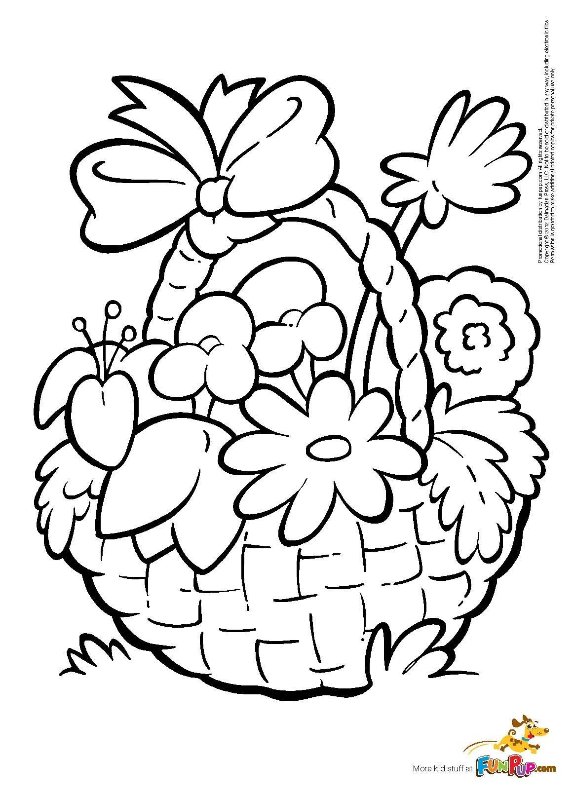 1163x1613 Flower Basket Coloring