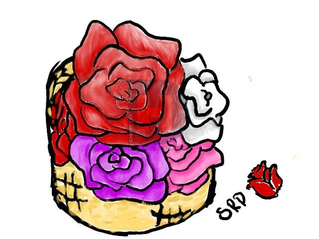 640x480 How To Draw A Basket Of Roses, Step