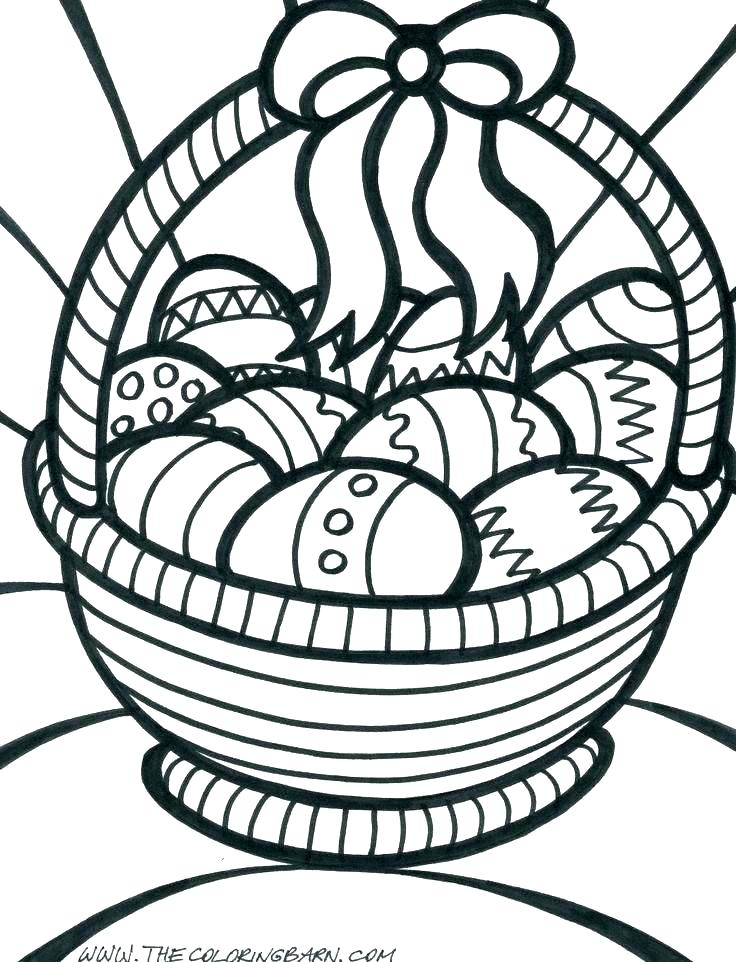 736x962 Flower Basket Coloring Pages