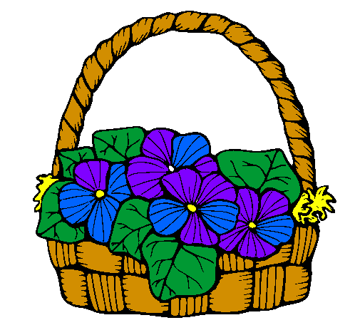 505x470 Drawing, Basket, Flower, Transparent Png Image Clipart Free Download