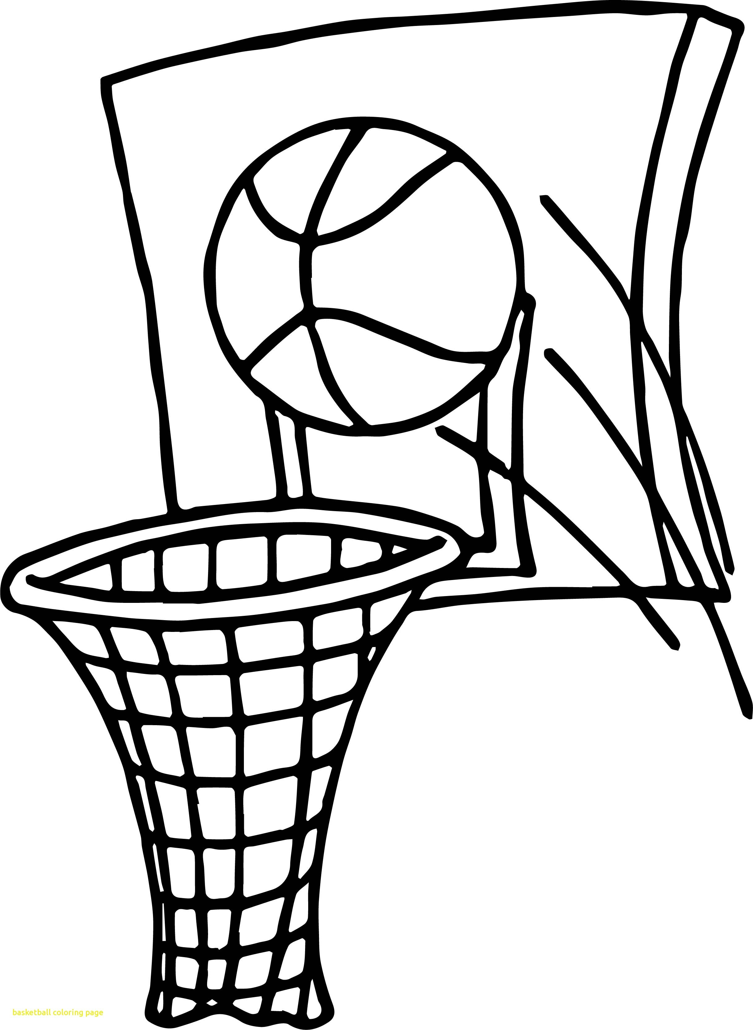 Basketball Goal Drawing