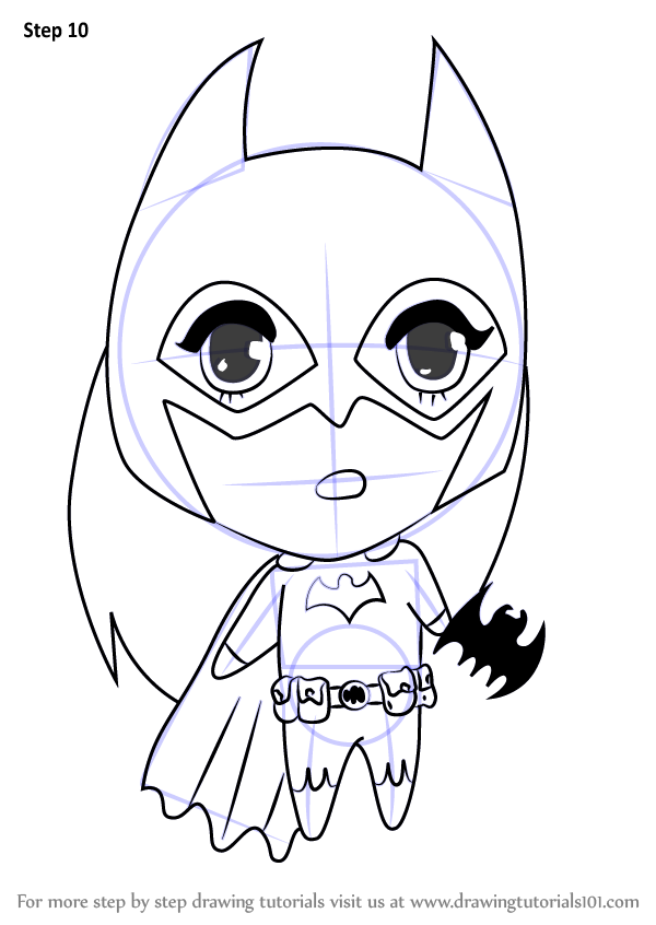600x846 Learn How To Draw Chibi Batgirl