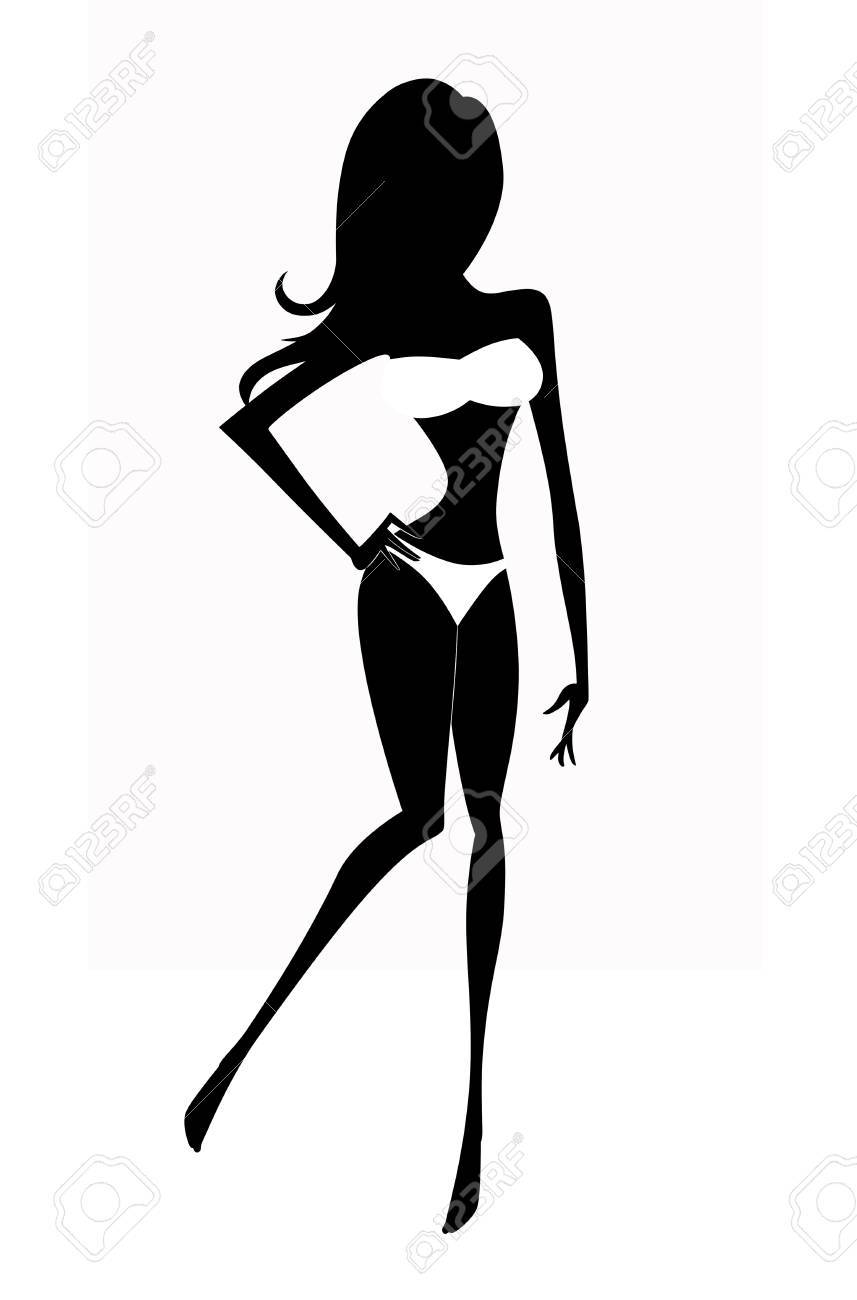 857x1300 bathing suit silhouette bathing suit drawing download free