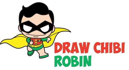 500x272 How To Draw Cute Chibi Kawaii Super Heroes From Dc Comics + Marvel