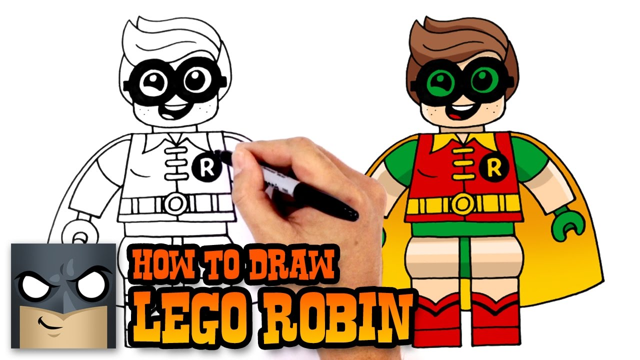 1280x720 How To Draw Lego Robin Lego Batman Movie