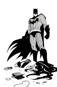 Batman Black And White Drawing