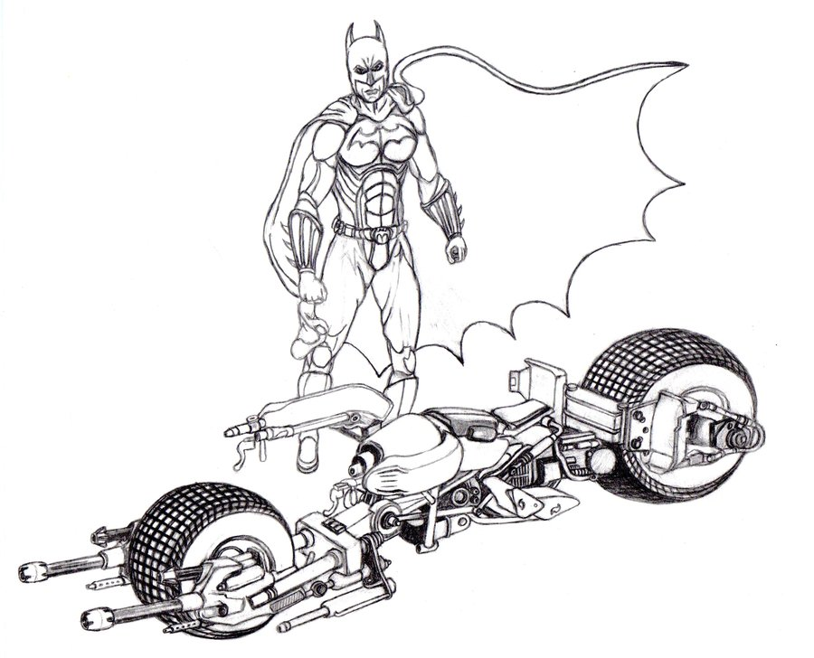 Batman Car Drawing