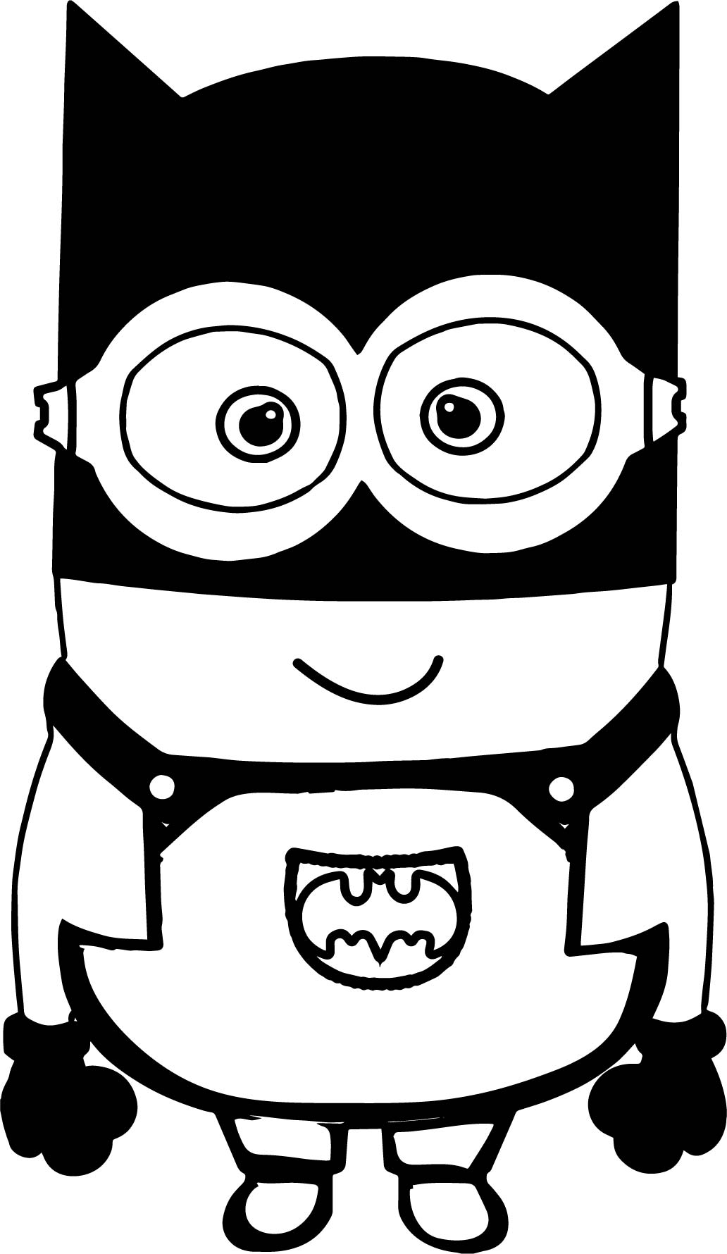 1032x1780 Batman Cartoon Minions Coloring