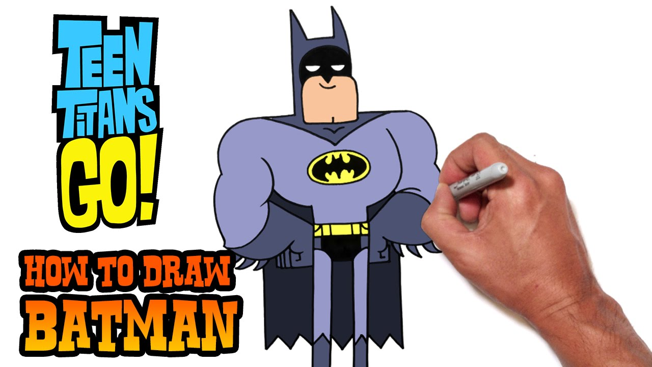 1280x720 How To Draw Batman Teen Titans Go