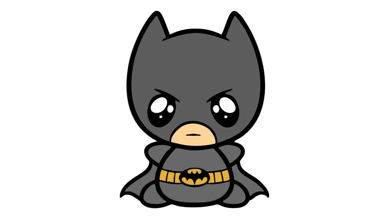 1280x720 How To Draw Cute Batman