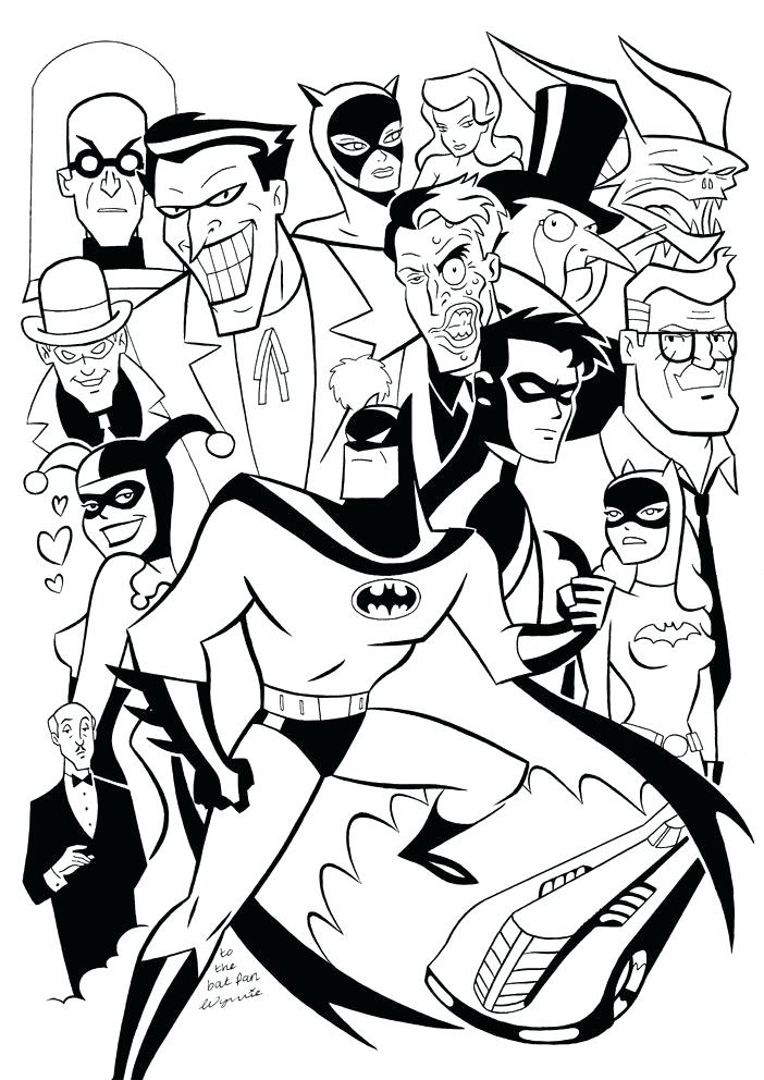 702x992 Batman The Animated Series Coloring Pages