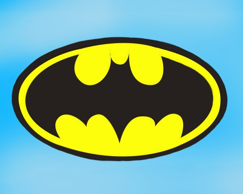 500x400 Learn How To Draw Batman Logo