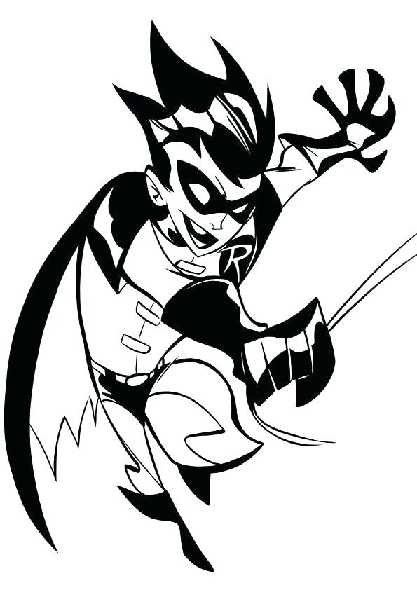 595x842 Batman And Robin Coloring Pages Spider Man Color