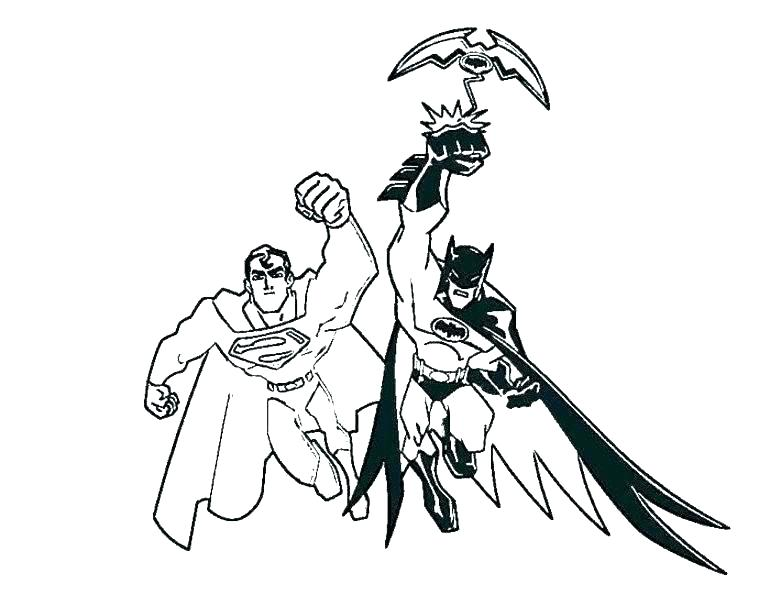 770x595 Batman Colouring In Pictures Superman Batman Colouring Pictures