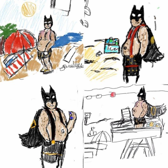 540x540 My Year Old Has Started Drawing Fat, Middle Aged Batman