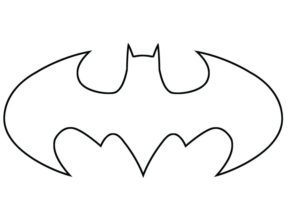 970x750 To Draw Batman Logo Step On Batman Logo Outline