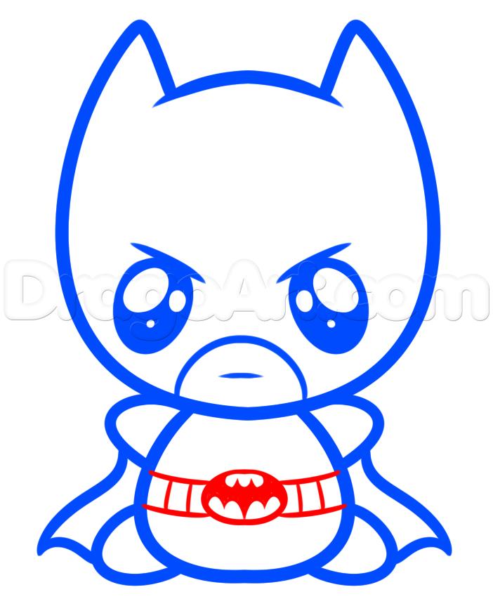 702x853 how to draw kawaii batman step batman batman drawing