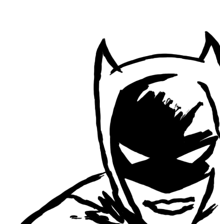 454x463 Batman Head Clipart Black And White Collection
