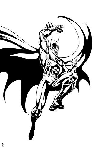 325x488 Batman Batman Jumping With One Leg Lifted Up And Arm Above His