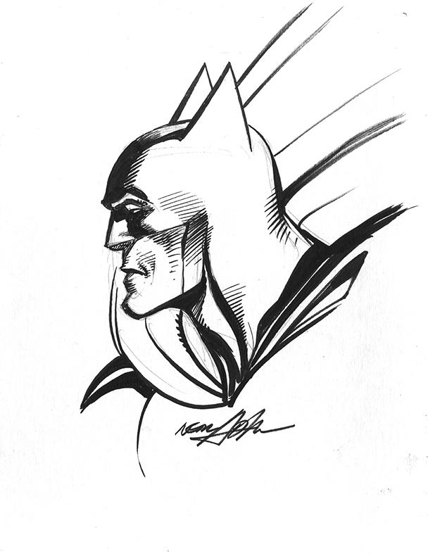 Batman Ink Drawing