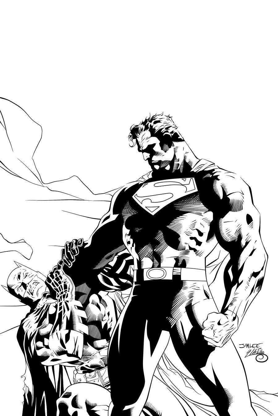 900x1347 Batman V Superman Clipart Line Drawing