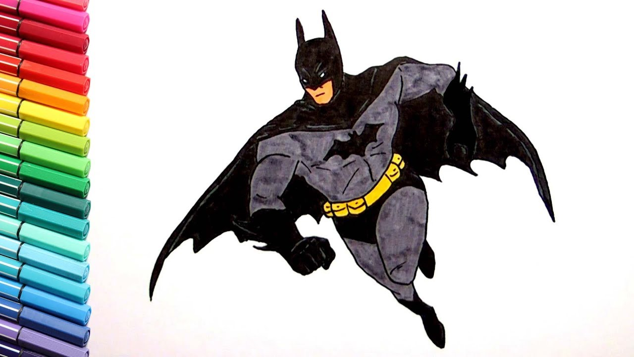 1280x720 Drawing And Coloring Batman And Spiderman Superheroes Color Pages