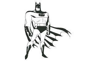300x200 How To Draw Batman Easy