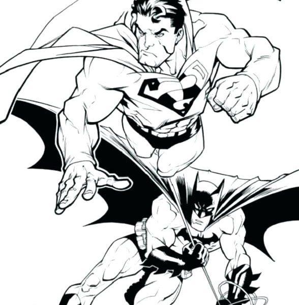 588x600 Batman Vs Superman Logo Coloring Pages Free Printable Batman Vs