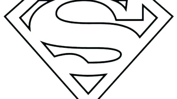 585x329 Superman Logo Coloring Pages Batman Vs Superman Coloring Pages