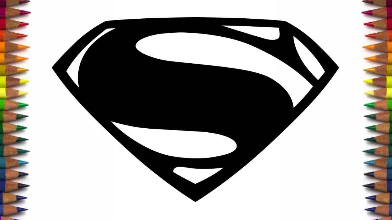 1366x768 Superman Logo Sketch How To Draw New Batman And Superman Logos