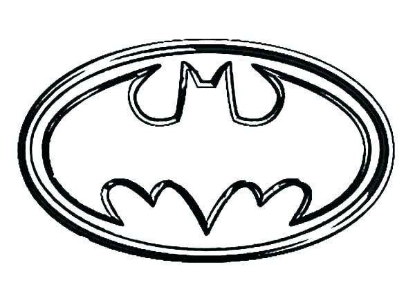 600x425 Batman Logo Coloring