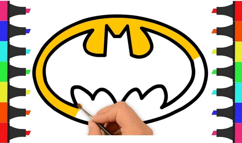 1224x720 Batman Logo Coloring Pages And Superhero Breathtaking Vs