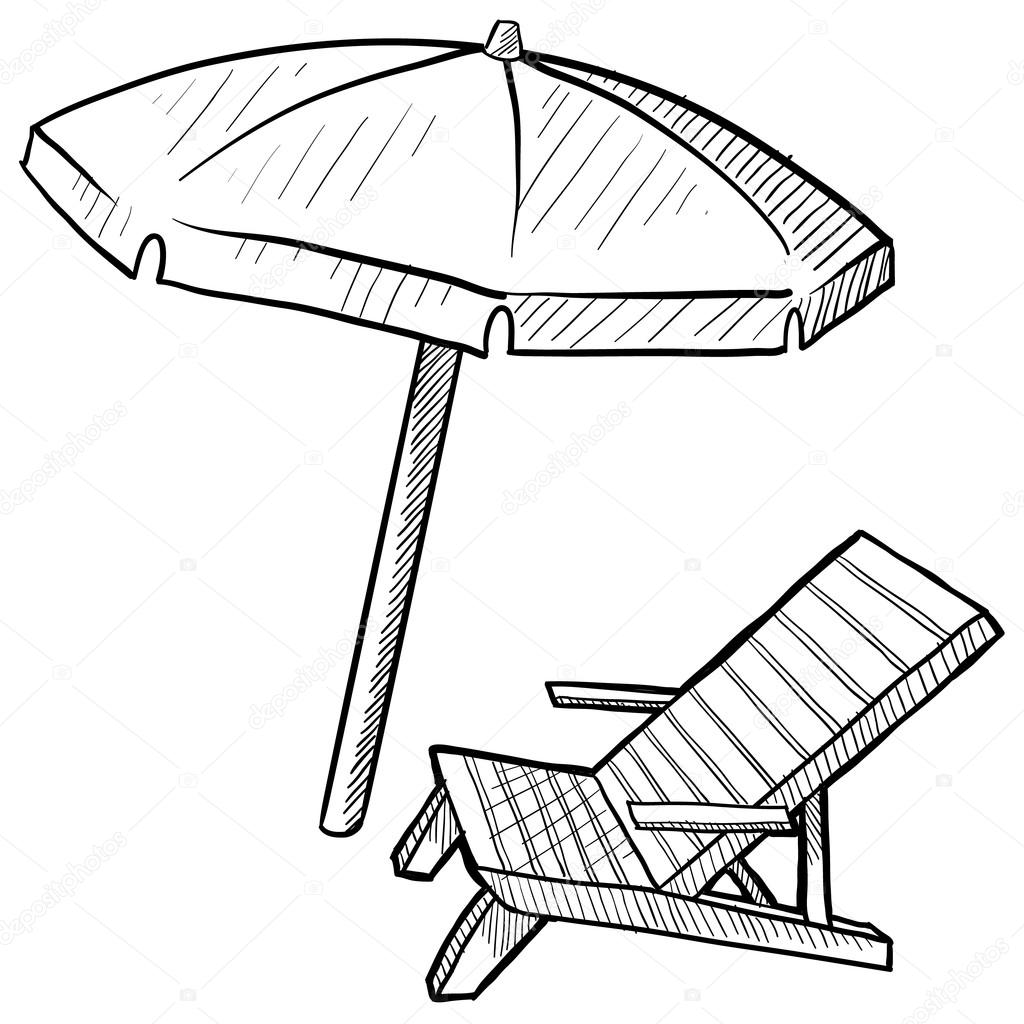 1024x1024 beach drawing beach umbrella for free download