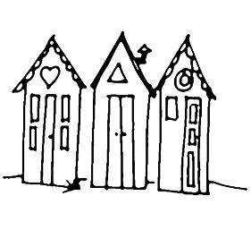 281x257 beach huts rubber stamp the rubber stamp gallery