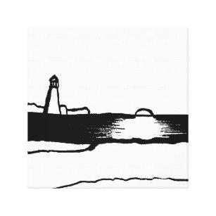 307x307 Beach Landscape Canvas Art Prints Zazzle