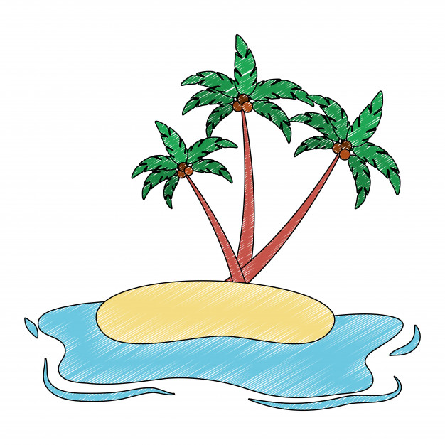 626x626 Beach Landscape Isolated Icon Vector Illustration Design Vector